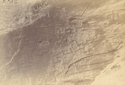 Rock inscription in unknown characters, Swat Valley